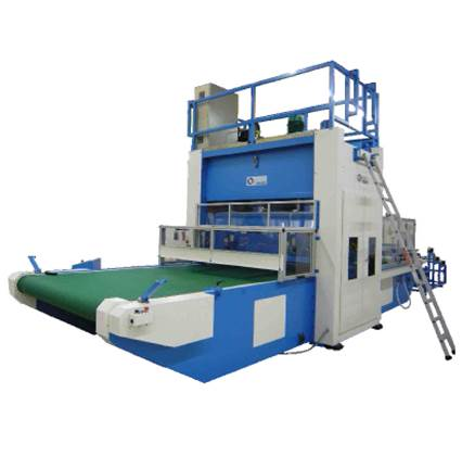 Die cutting press with movable beam – Model VFS